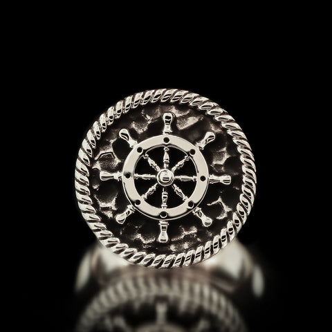 Boat Wheel Ring - Sterling Silver