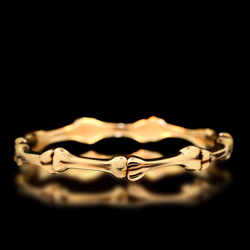 Bone Bangle - Brass - Twisted Love NYC