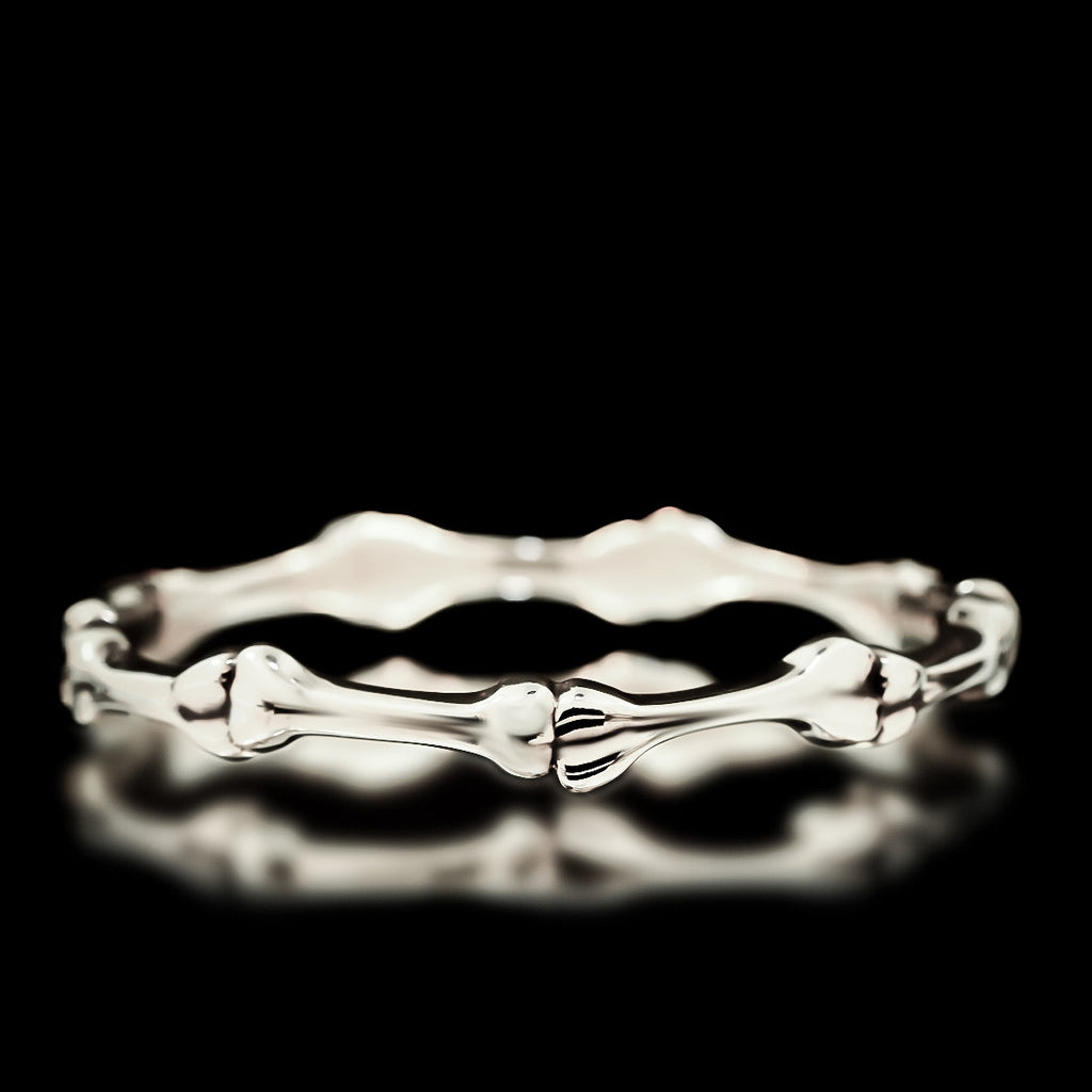 Bone Bangle - Sterling Silver - Twisted Love NYC