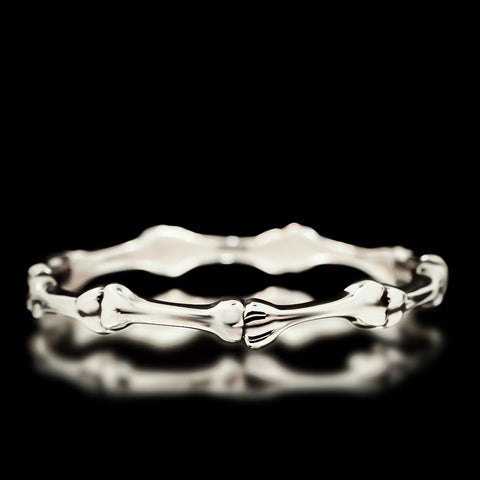 Bone Bangle - Sterling Silver