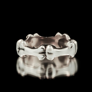 Bone Eternity Band - Sterling Silver - Twisted Love NYC
