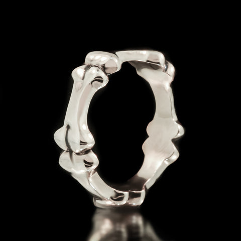 Bone Eternity Band - Sterling Silver