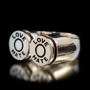 Love/Hate Bullet Ring - Sterling Silver - Twisted Love NYC