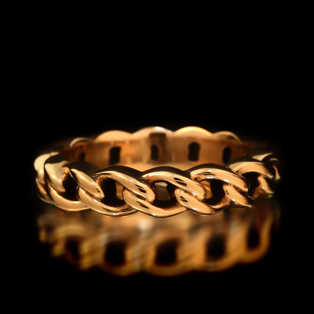 Chain Link Ring - Brass - Twisted Love NYC