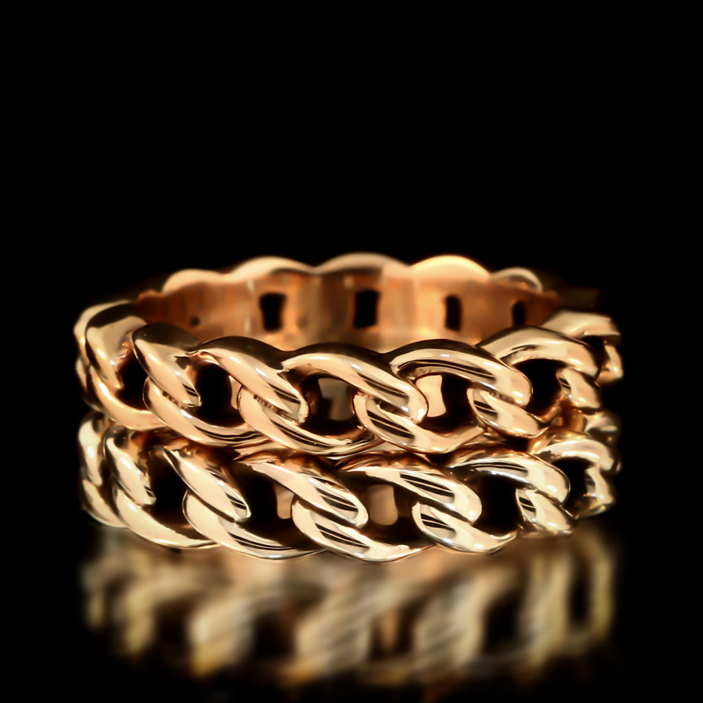 Silver & Brass Chain Link Ring Set - Twisted Love NYC