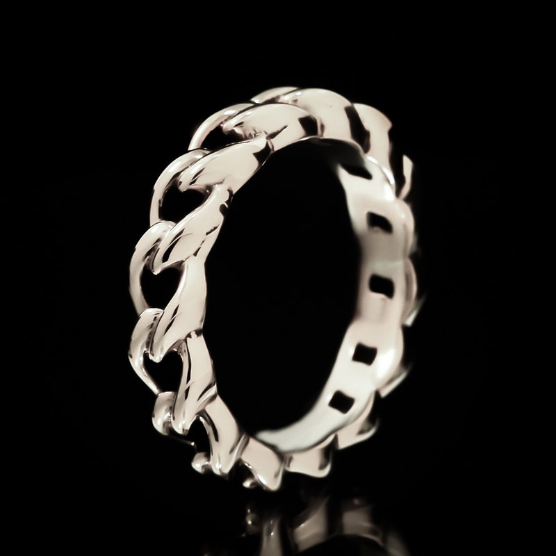 Chain Link Ring - Sterling Silver - Twisted Love NYC