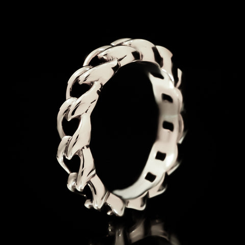 Chain Link Ring - Sterling Silver