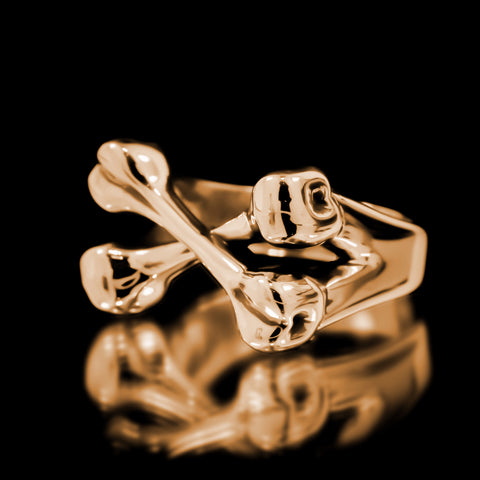 Crossbones Ring - Brass