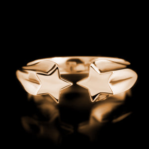 Shooting Star Ring - Brass - Twisted Love NYC