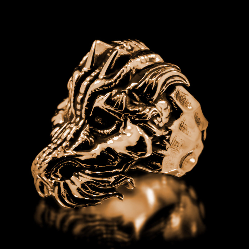 Dragon Ring - Brass - Twisted Love NYC