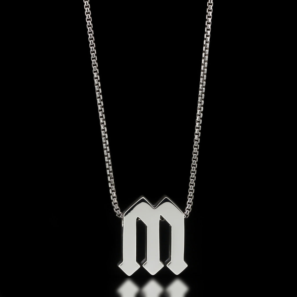 Gothic Letter Slider Necklace - Twisted Love NYC