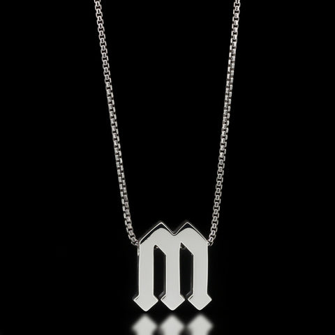 Gothic Letter Slider Necklace
