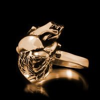 Anatomical Heart Ring - Brass - Twisted Love NYC