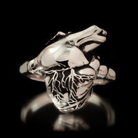 Anatomical Heart Ring - Sterling Silver - Twisted Love NYC