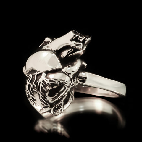 Anatomical Heart Ring - Sterling Silver