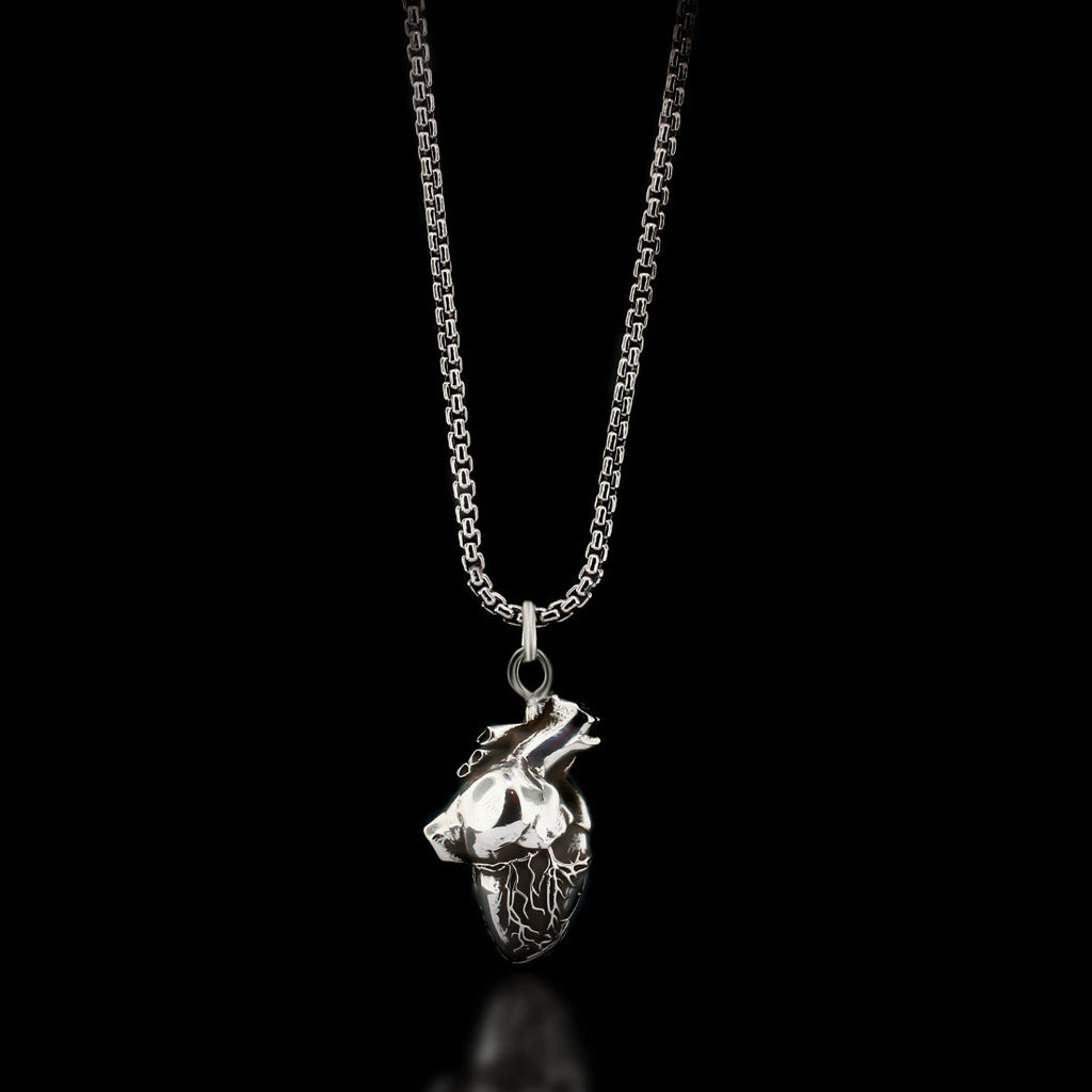 Anatomical Heart Necklace - Sterling Silver - Twisted Love NYC