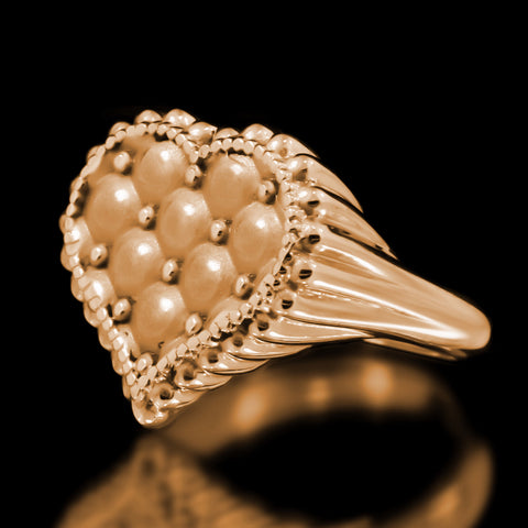 Cushion Heart Ring - Brass