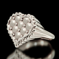 Cushion Heart Ring - Sterling Silver - Twisted Love NYC