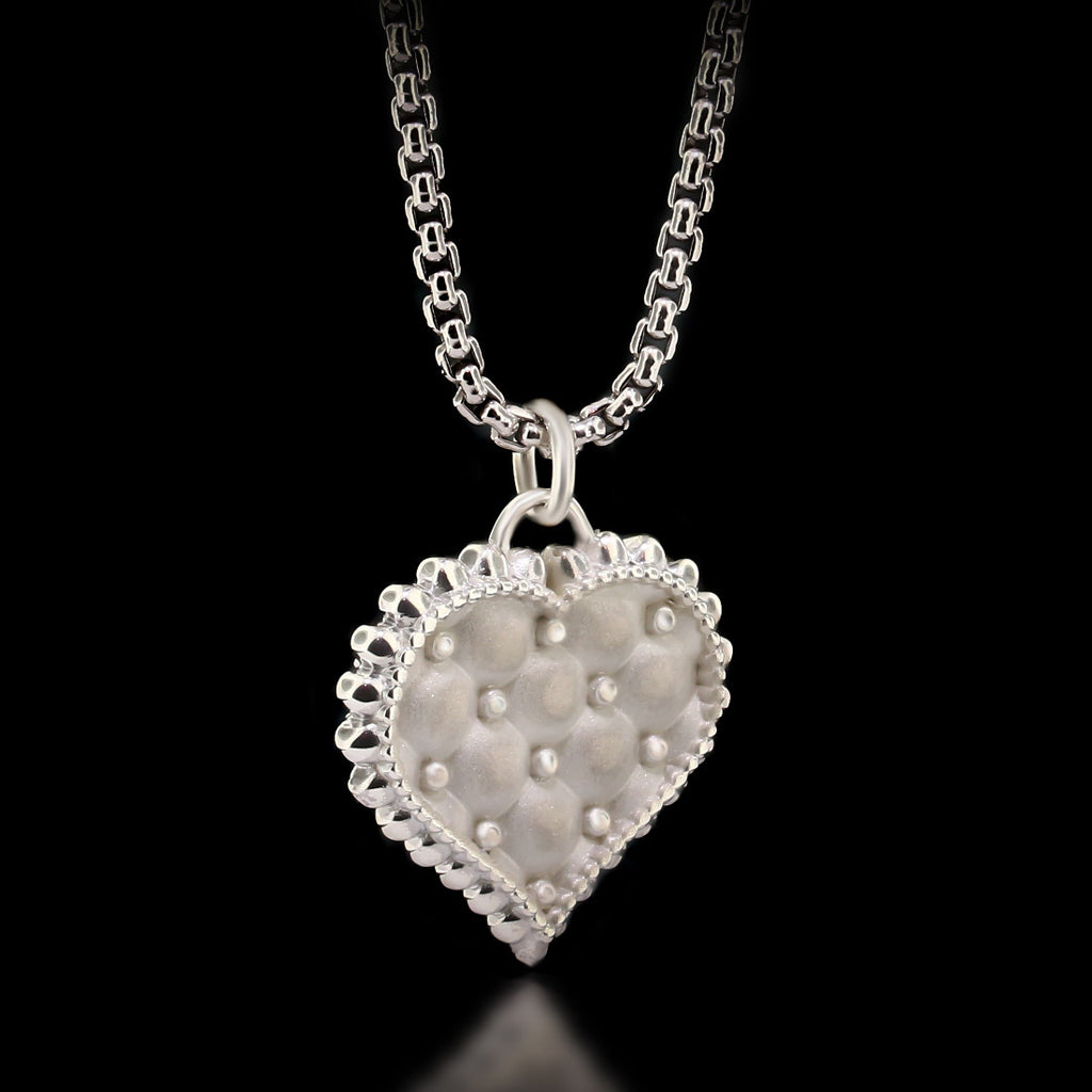 Cushion Heart Necklace - Sterling Silver - Twisted Love NYC