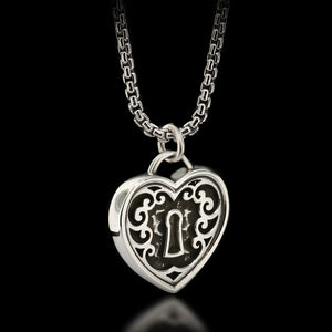 Padlock Heart Necklace - Sterling Silver - Twisted Love NYC