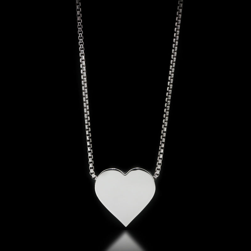 Heart Slider Necklace - Sterling Silver - Twisted Love NYC