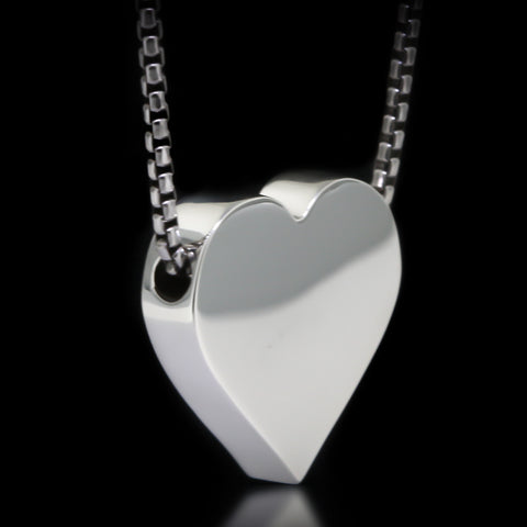 Heart Slider Necklace - Sterling Silver
