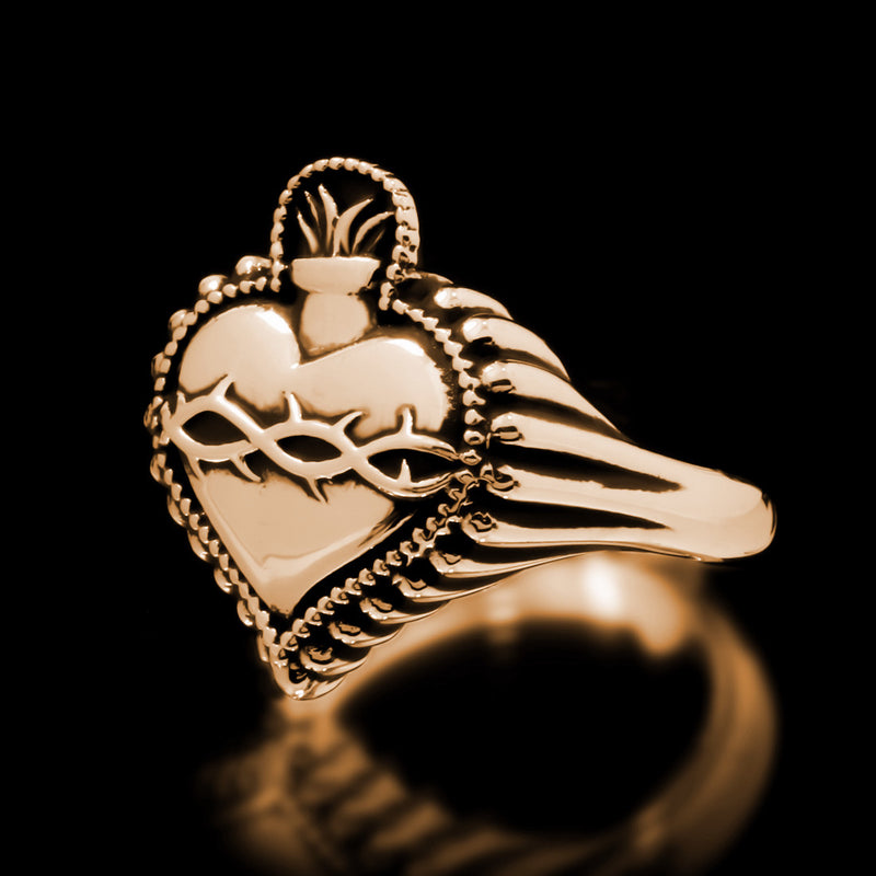 Sacred Heart Ring - Brass - Twisted Love NYC