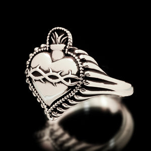 Sacred Heart Ring - Sterling Silver - Twisted Love NYC