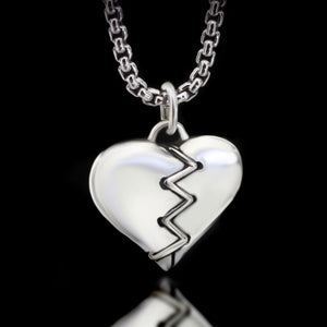 Stitched Heart Necklace - Sterling Silver - Twisted Love NYC