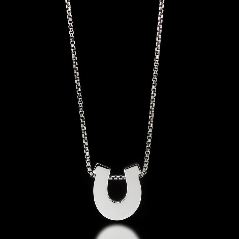 Horseshoe Slider Necklace - Sterling Silver - Twisted Love NYC