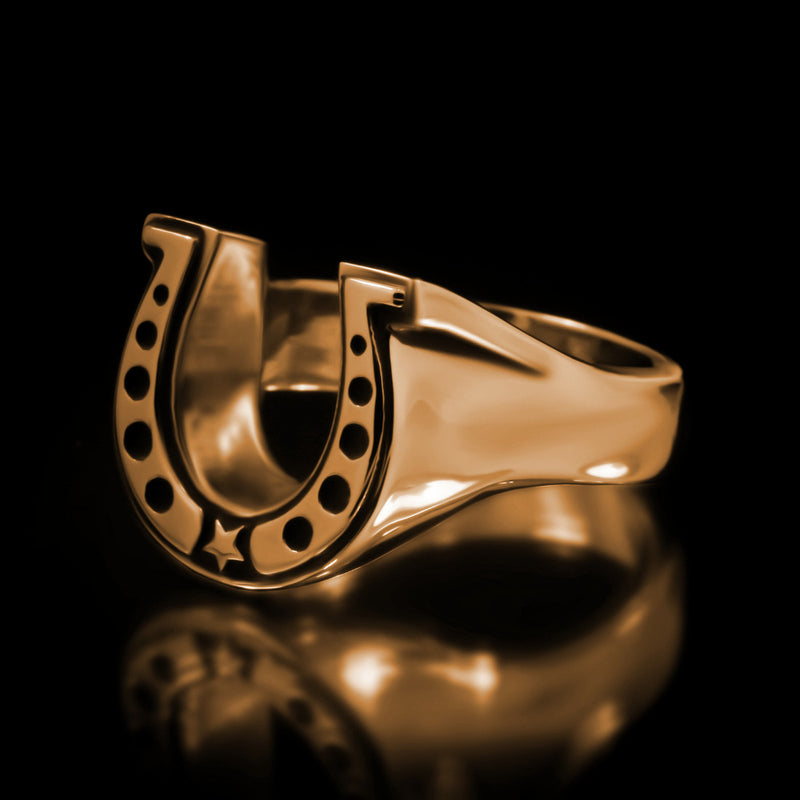 Horseshoe Ring - Brass - Twisted Love NYC