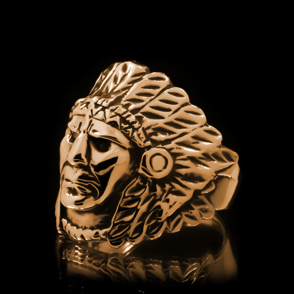 Indian Chief Ring - Brass - Twisted Love NYC