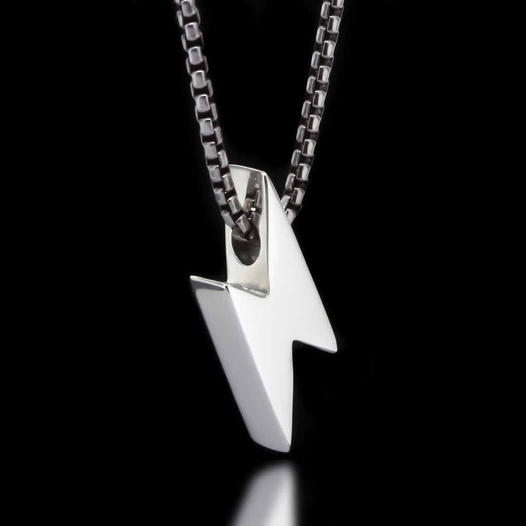 Lightning Bolt Slider Necklace - Sterling Silver - Twisted Love NYC