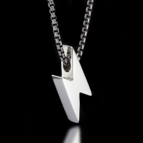 Lightning Bolt Slider Necklace - Sterling Silver