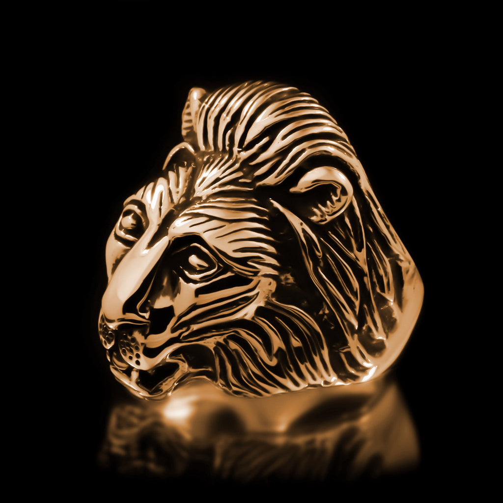 Lion Ring - Brass - Twisted Love NYC