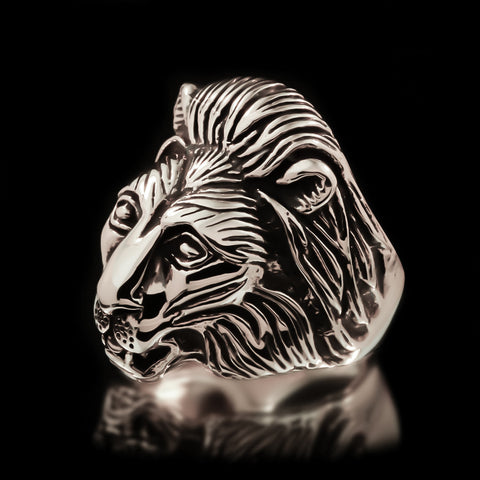 Lion Ring - Sterling Silver