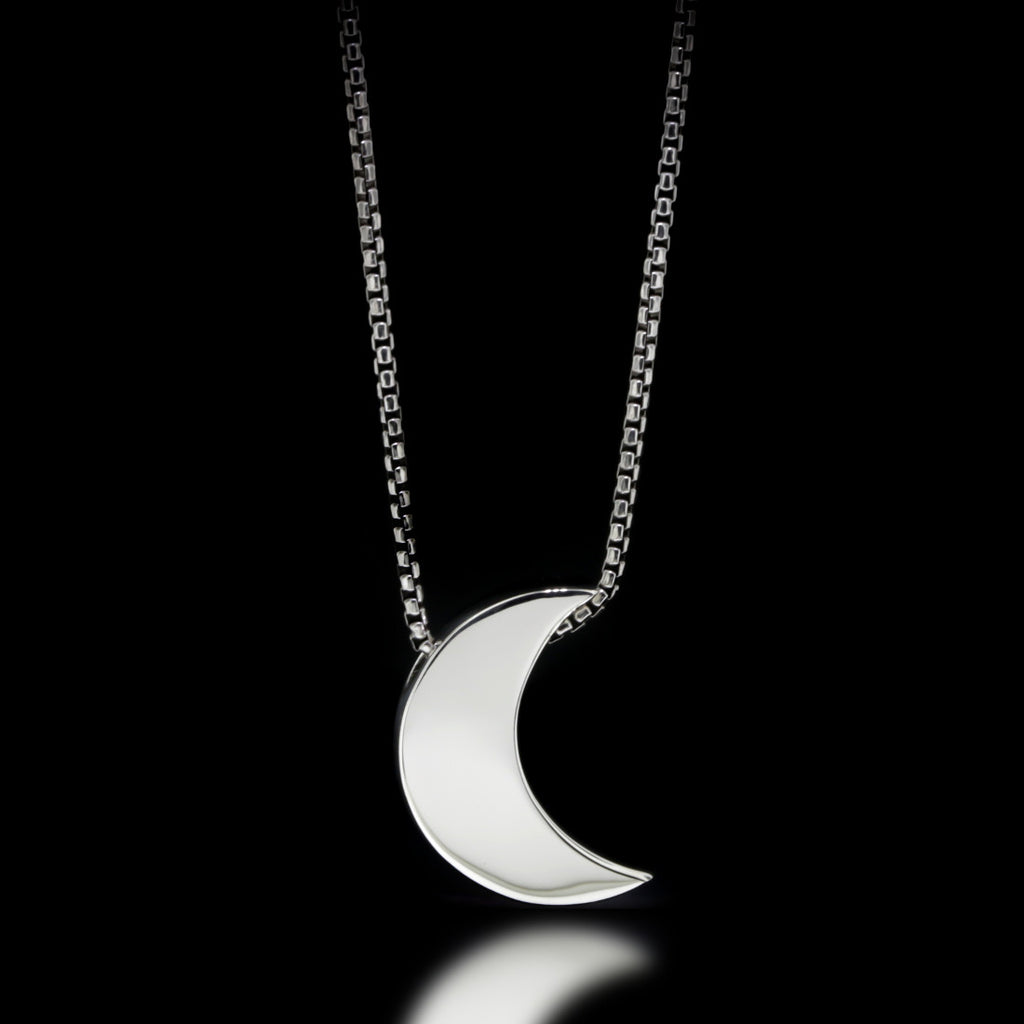 Luna Slider Necklace - Sterling Silver - Twisted Love NYC