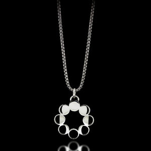 Moon Phase Necklace - Sterling Silver - Twisted Love NYC
