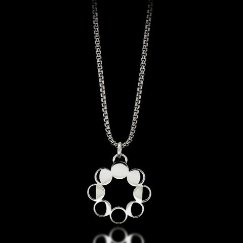Moon Phase Necklace - Sterling Silver