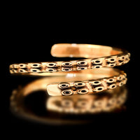 Kraken Bangle - Brass - Twisted Love NYC