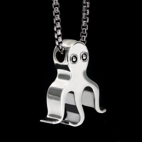Kraken Slider Necklace - Sterling Silver
