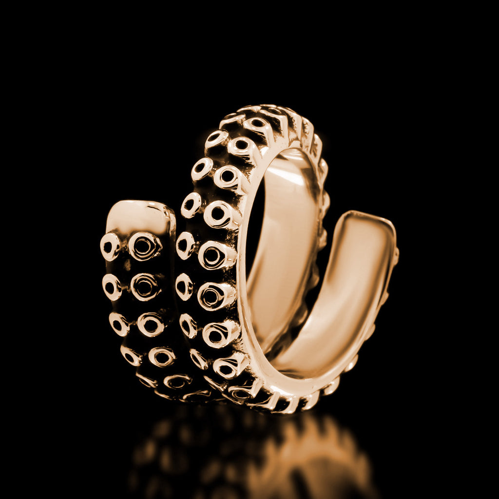 Kraken Tentacle Ring - Brass - Twisted Love NYC