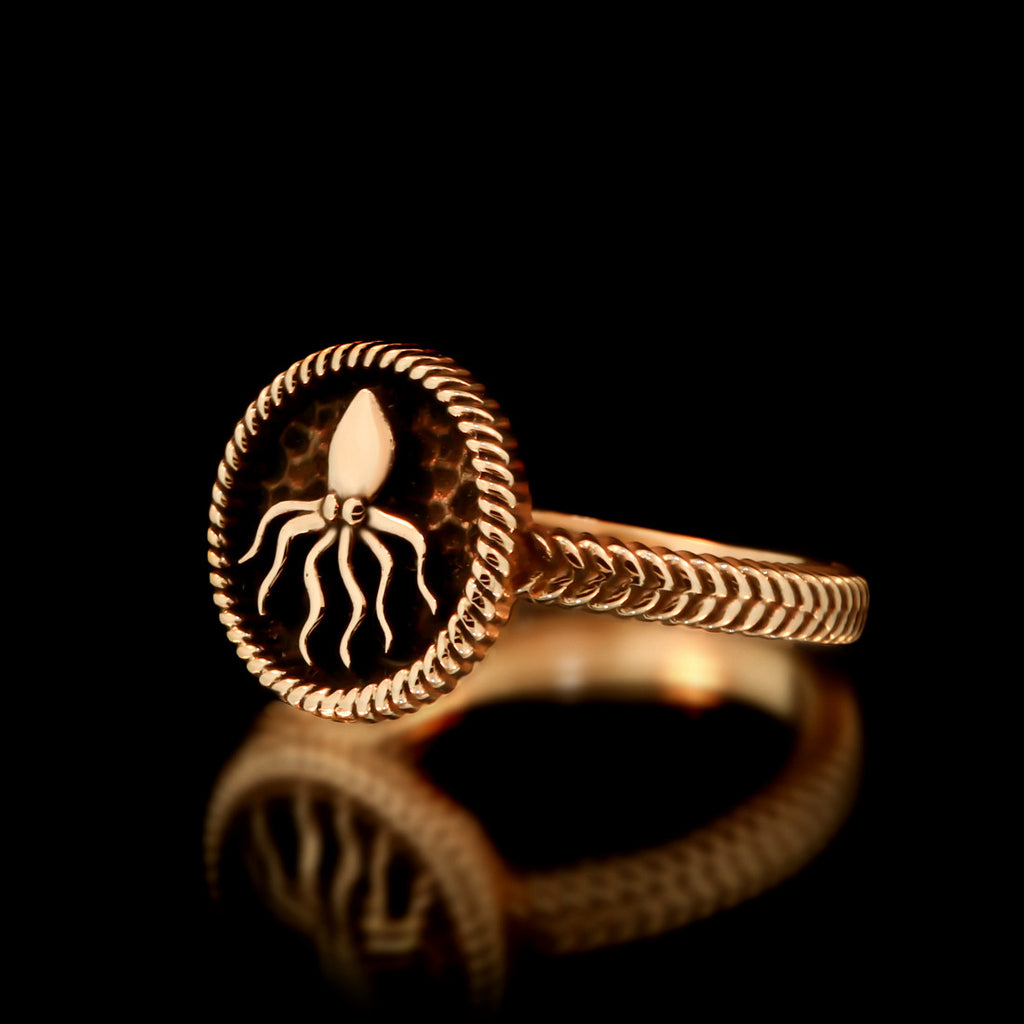 Ladies Kraken Ring - Brass - Twisted Love NYC