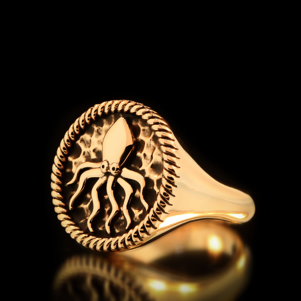 Kraken Ring - Brass - Twisted Love NYC