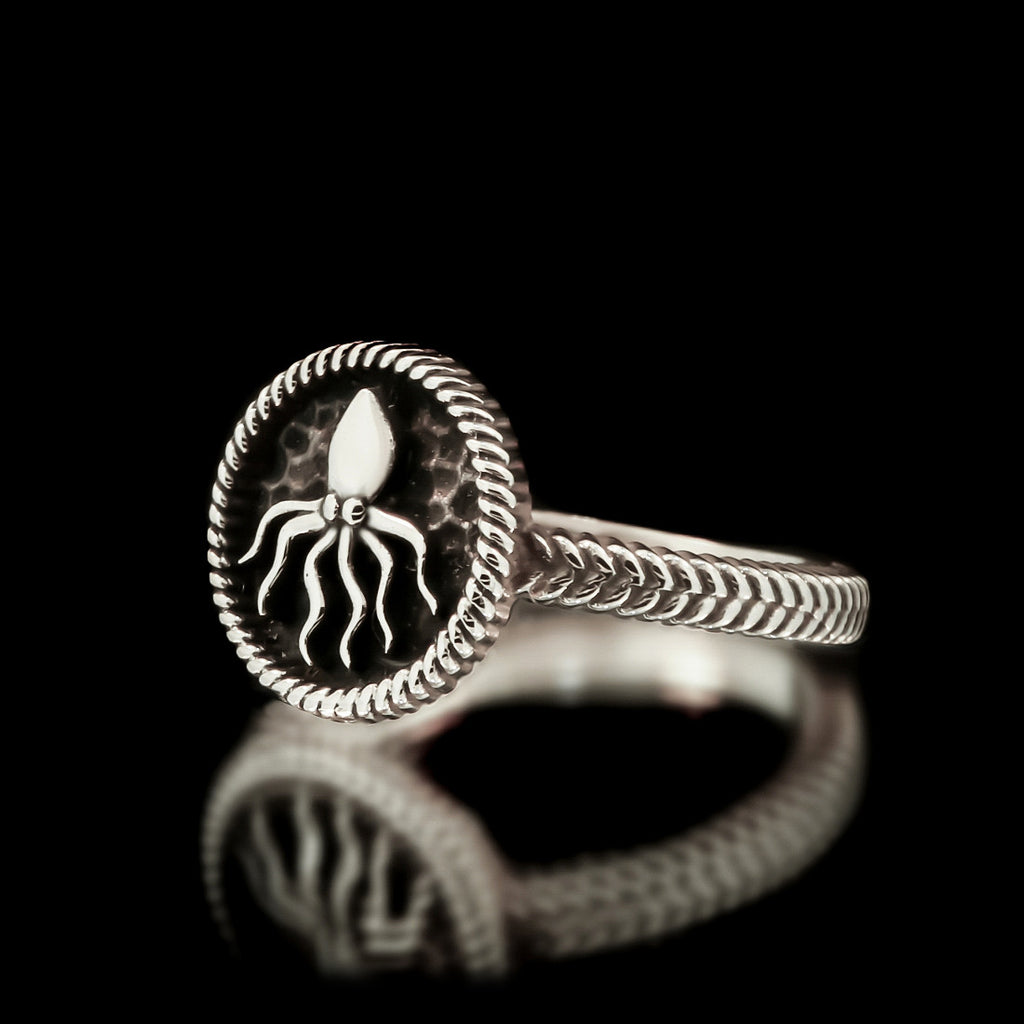 Ladies Kraken Ring - Sterling Silver - Twisted Love NYC