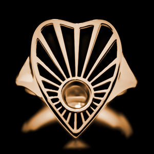 Ouija Ring - Brass - Twisted Love NYC