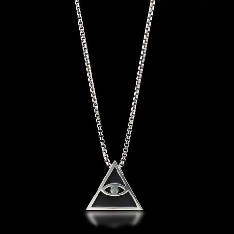 All Seeing Eye Slider Necklace - Sterling Silver