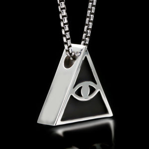 All Seeing Eye Slider Necklace - Sterling Silver - Twisted Love NYC