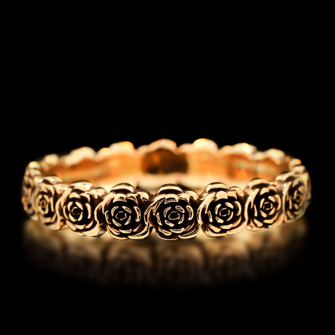 Rose Bangle - Brass