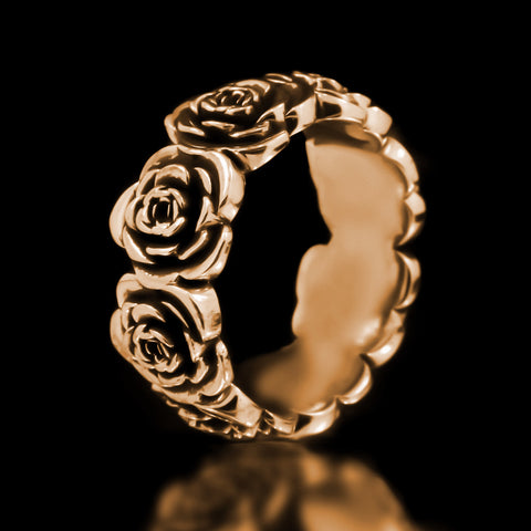 Rose Eternity Band - Brass
